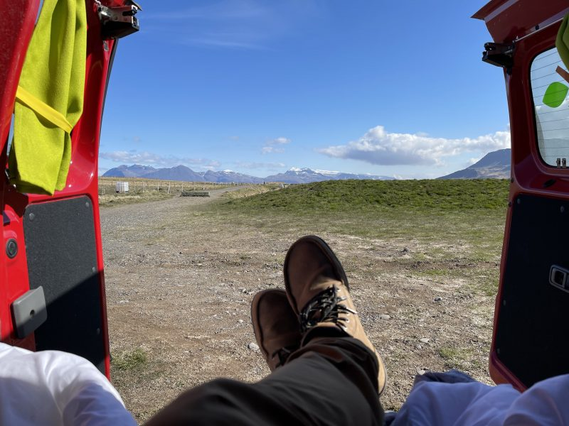 iceland itinerary, happy camper view